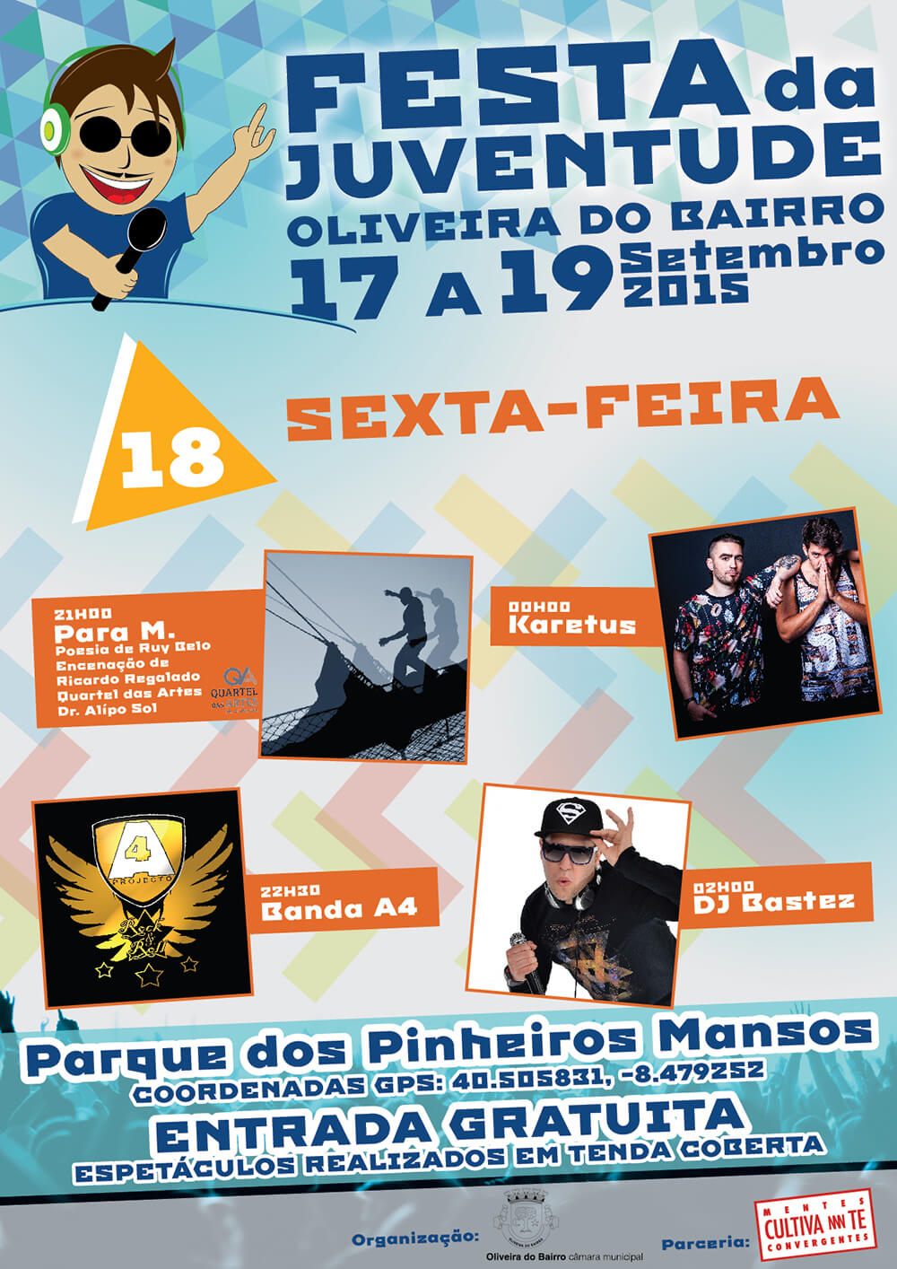 Festa da Juventude de Oliveira do Bairro - Poster for the 18th day | Way2Start - Design & Digital Agency
